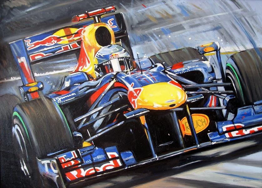 Себастьян Феттель Red Bull RB6 by Roman Goloseev