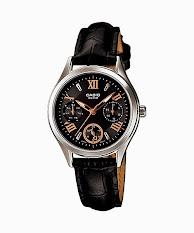Jam Tangan Wanita Tali Stainless Putih Biru Casio Standard : LTP-E116D-2AV