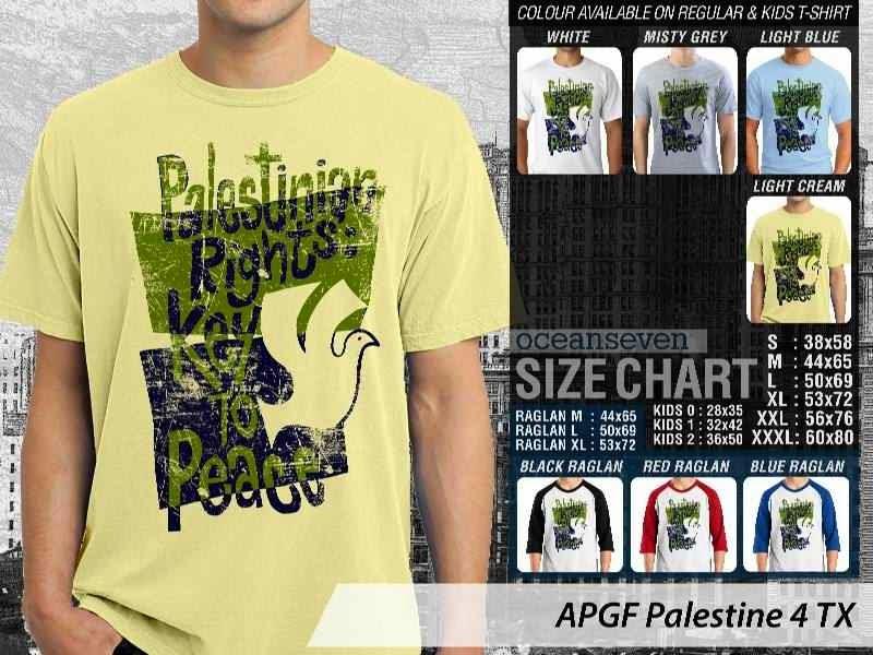 Kaos Muslim Islam Palestine 4 distro ocean seven