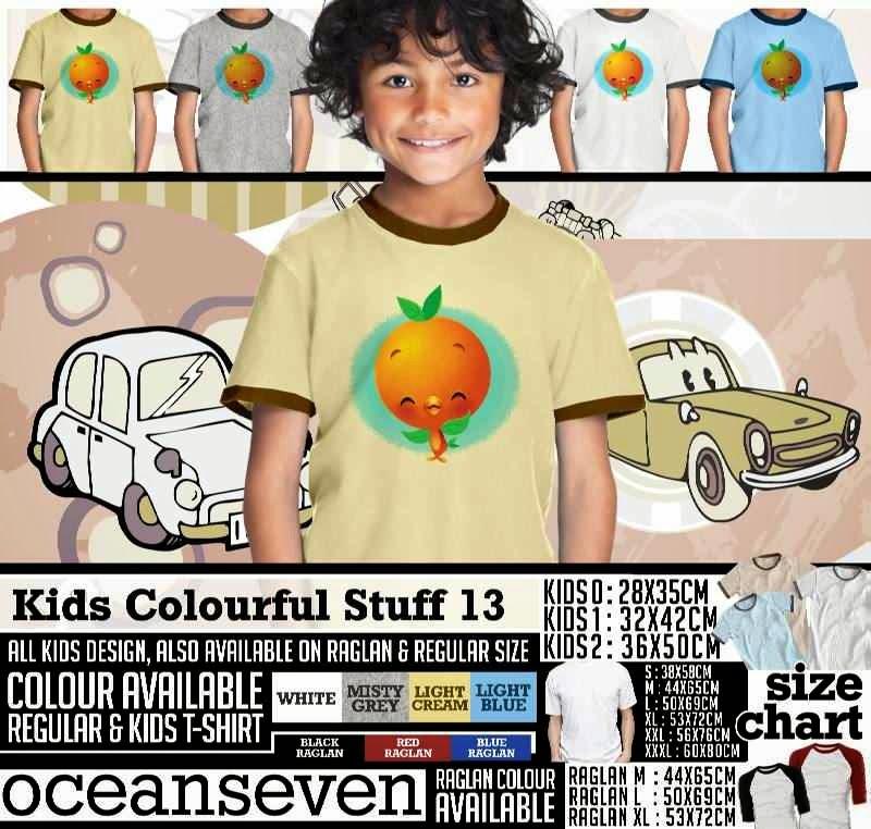 Kaos anak Kids Colourful 13 Lucu Gambar Bird Burung distro ocean seven