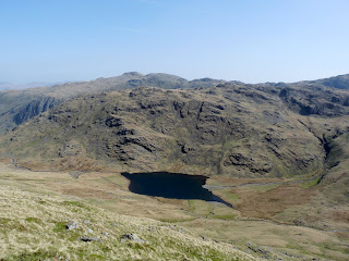 Styhead Tarn and Seathwaite Fell.