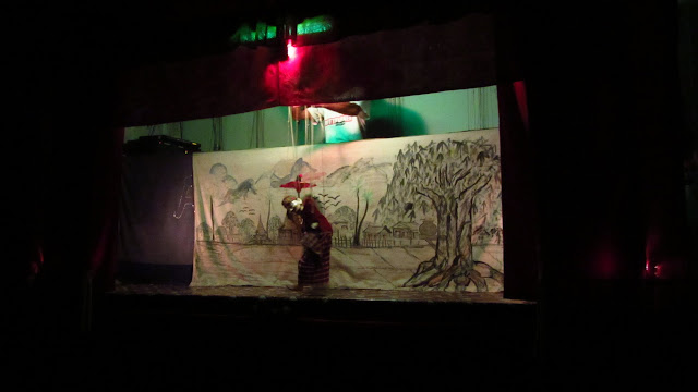 Aung's traditional puppet show.