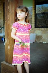 Knit Shirred Peasant Dress
