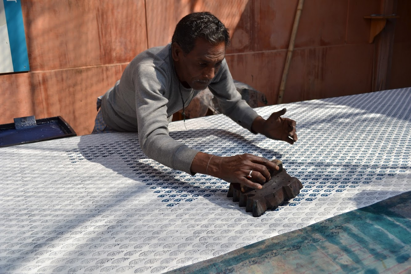 Needlecraft in India - Block Printing - textile holiday