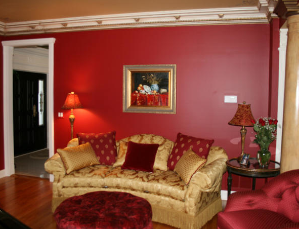 What to do with that red sofa...