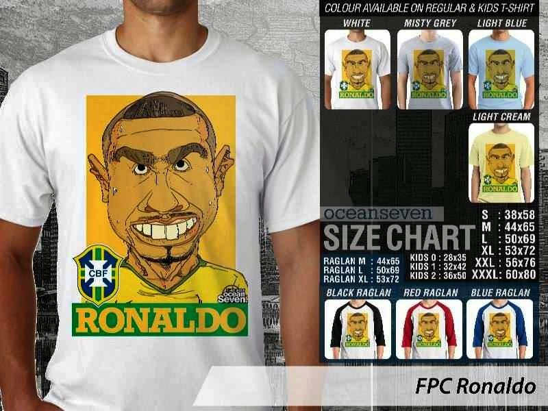 KAOS Cristiano Ronaldo Karikatur Bola distro ocean seven