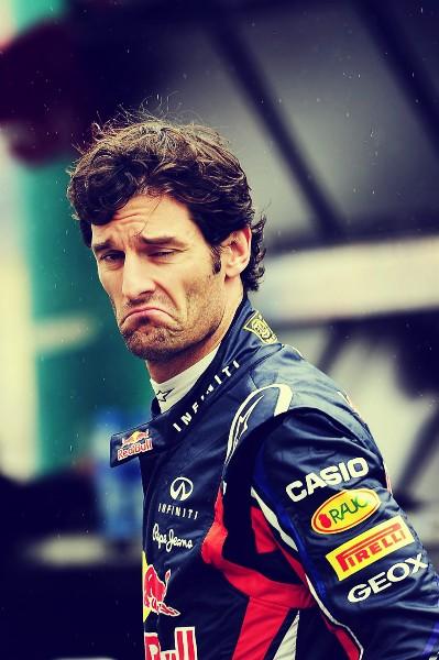 unsmile Марк Уэббер на Гран-при Венгрии 2011