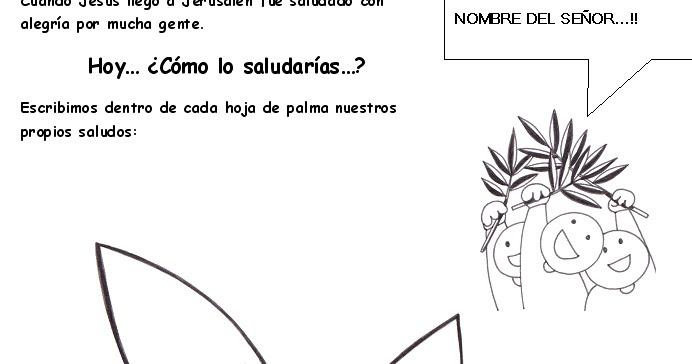 PASATIEMPOS Y CRUCIGRAMAS: Dibujos de Domingo de Ramos