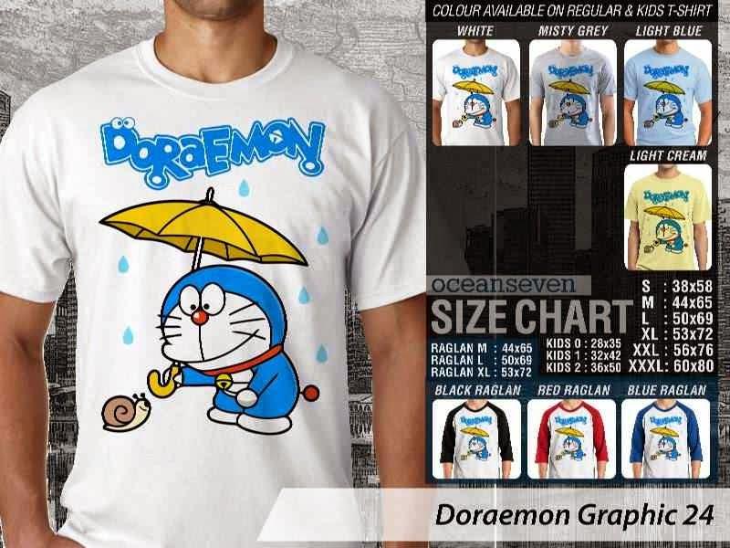 KAOS Doraemon 64 Manga Lucu distro ocean seven