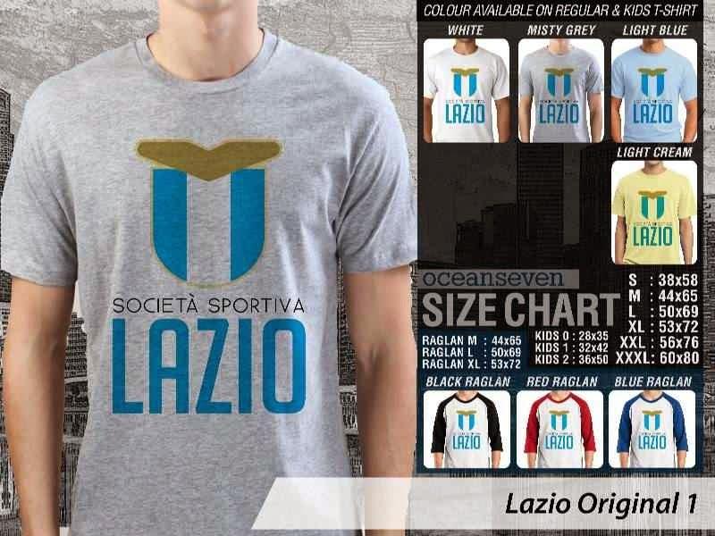 KAOS Lazio 28 Logo Klub Bola distro ocean seven