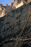 "Those ""Tiny"" Yellow Pods Bring 35 Passengers At A Time to The Top - Montserrat, Spain"