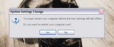 Network wizard restarting computer image