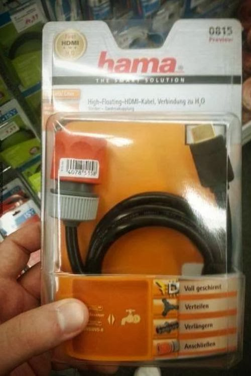 HDMI to garden hose?!?