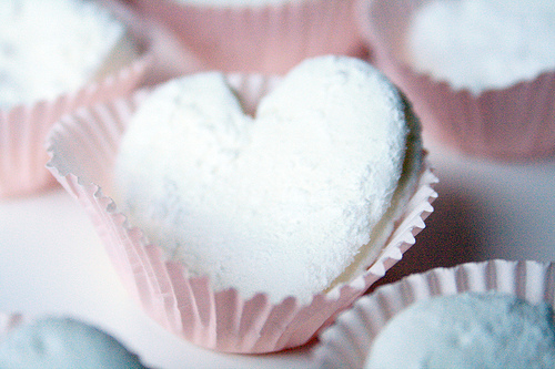 Homemade Heart Shaped Marshmallows