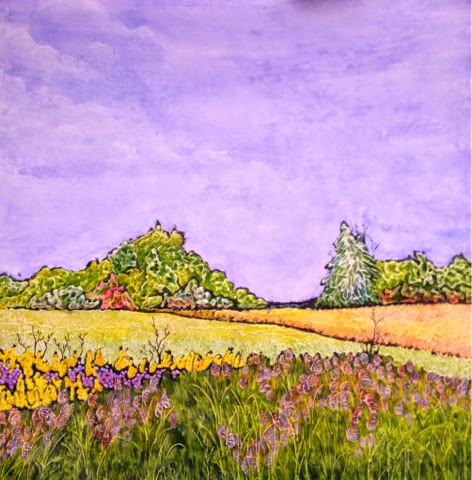 painting Asters and Golden Rod Robin Baratta artist