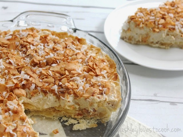 No-Bake Tropical Cheesecake || ashleylovestocook.com