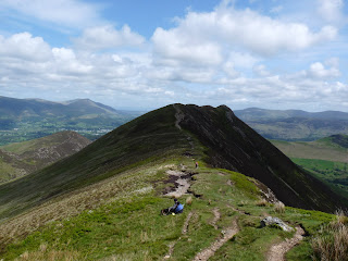 Looking back to Causey Pike in shadow. This was a great walk.
