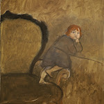 Carlo Mattioli | Anna sulla poltrona | 1976