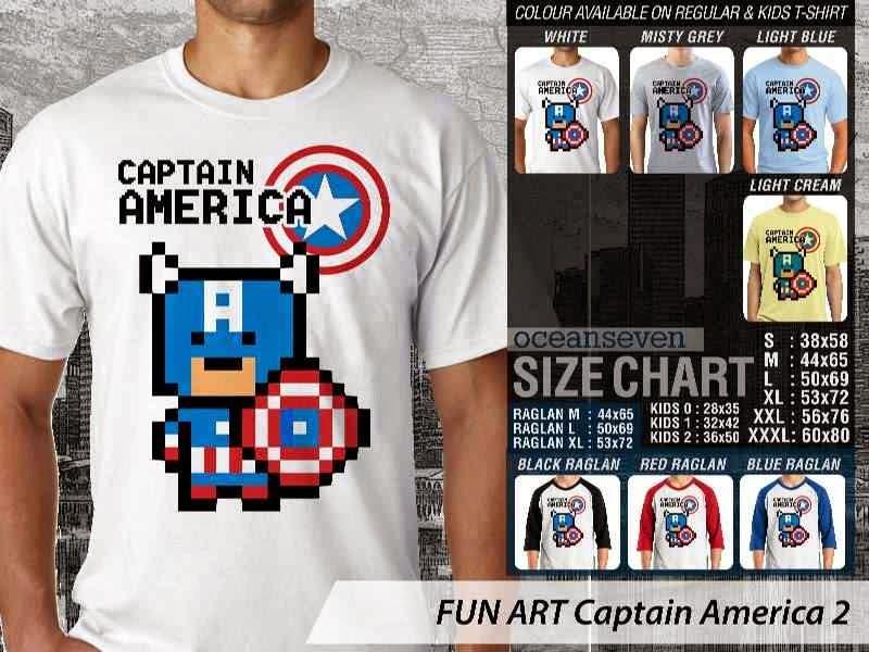 KAOS Captain America 2 Kartun Lucu distro ocean seven