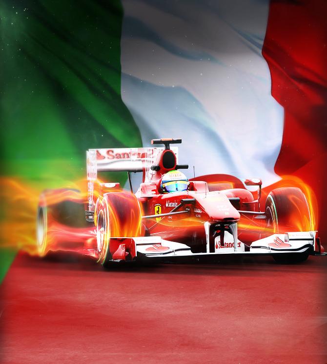 промо-иллюстрация Adolfo Correa Фелипе Масса на Ferrari в Монце 2011