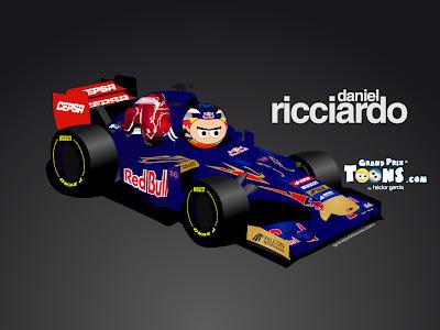 Даниэль Риккардо Toro Rosso STR7 Grand Prix Toons 2012
