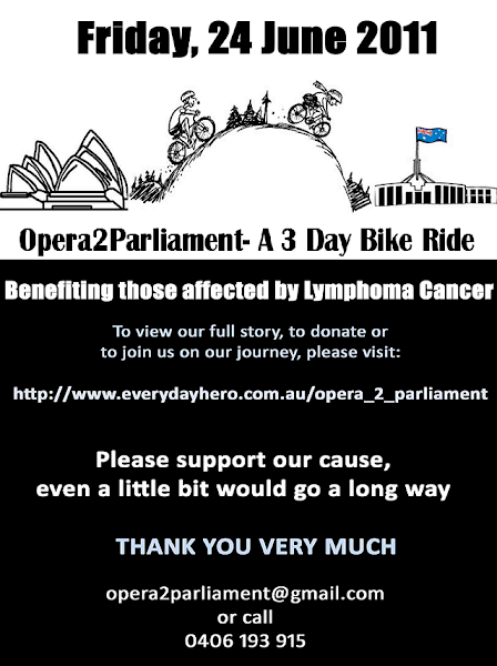 Opera2Parliament 3 day bike ride