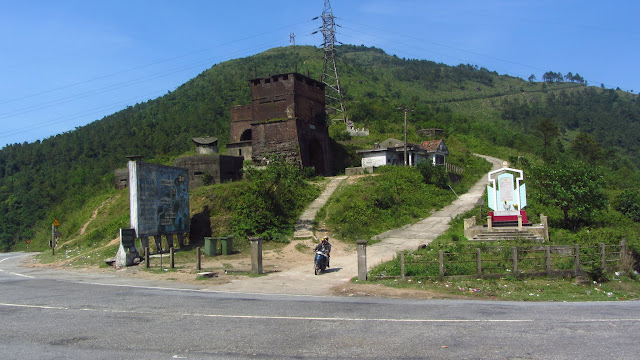 Ancient and modern fortifications on the Hai Van Pass.