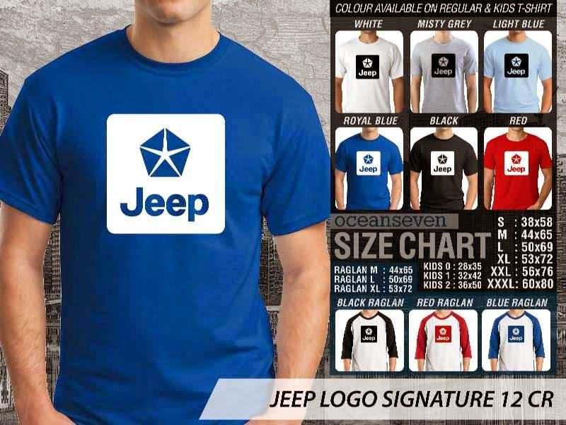jual kaos jeep Logo Signature 12 distro