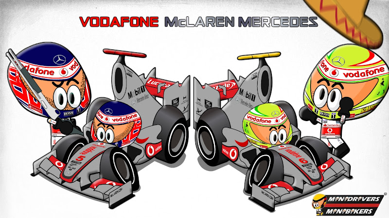Дженсон Баттон и Серхио Перес McLaren MP4-28 by Los MiniDrivers 2013