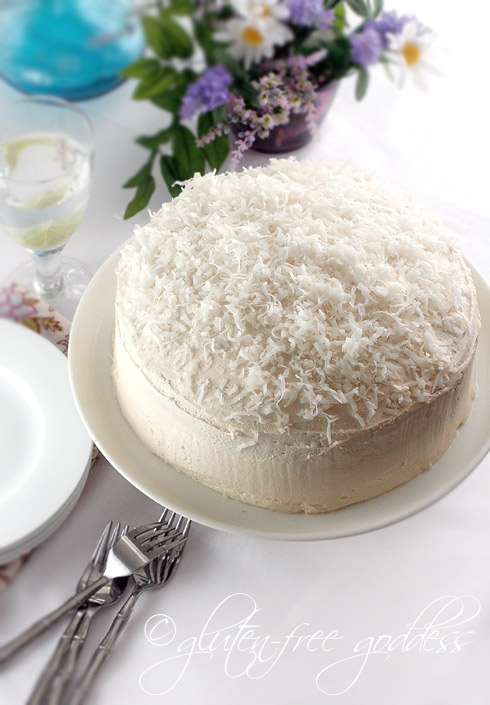 Gluten free coconut layer cake from Karina