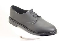 picture of a plain classic shoe, slightly pointy, 4 eyelets
