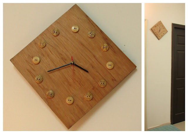Wall clock template DIY
