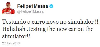 Фелипе Масса в твиттер о симуляторе Ferrari