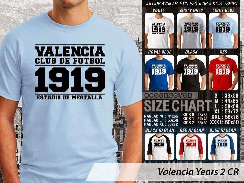 kaos bola bola Valencia 4 La Liga distro ocean seven