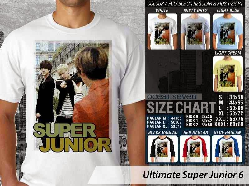 Kaos K Pop SUJU Ultimate Super Junior 6 Boy Band Asal Korea distro ocean seven