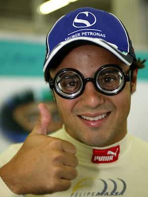 Фелипе Масса в очках в далёкие годы в Заубере