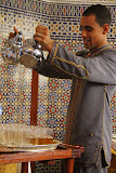 Brewing And Pouring Mint Tea - Casablanca, Morocco