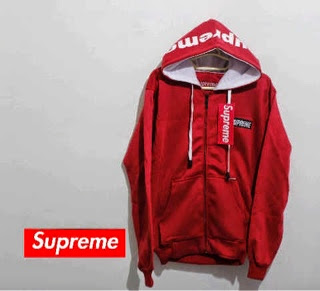 jaket supreme red