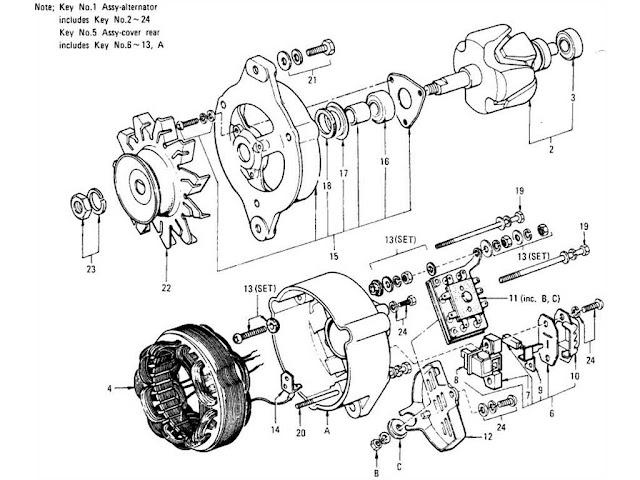 datsun 1200 alternator  hitachi
