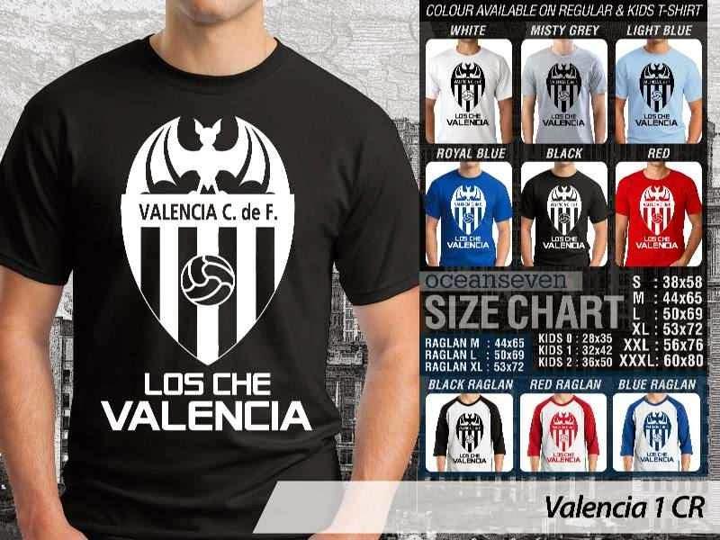 kaos bola bola Valencia 1 La Liga distro ocean seven
