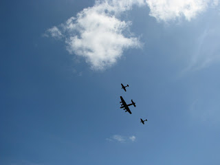 Wartime planes in formation