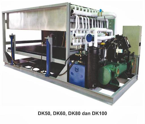 Mesin Pembuat Es Batu Balok Kapasitas 5 Ton (Commercial Ice Block Machine) : DK-50