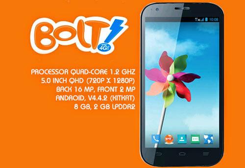 Bolt 4G Powerphone ZTE V9820 - Spesifikasi Lengkap dan Harga
