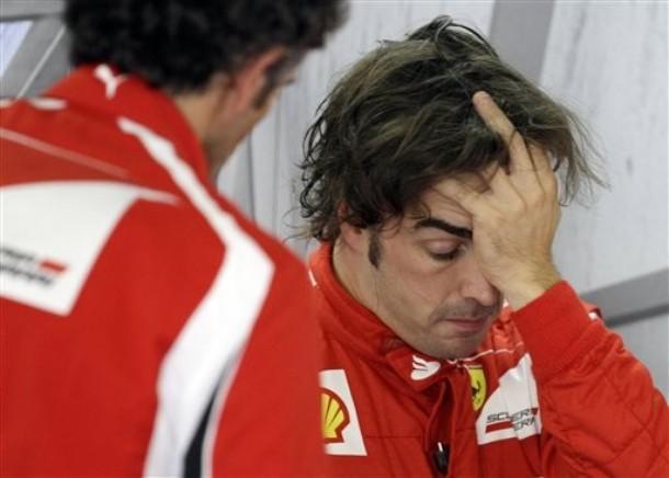 фэйспалм Фернандо Алонсо на Гран-при Японии 2011