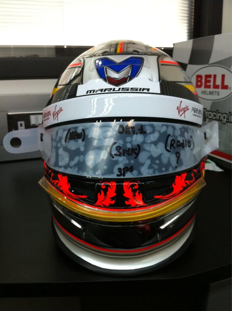 шлем Жерома Д'Амброзио специально для домашнего этапа в Спа на Гран-при Бельгии 2011