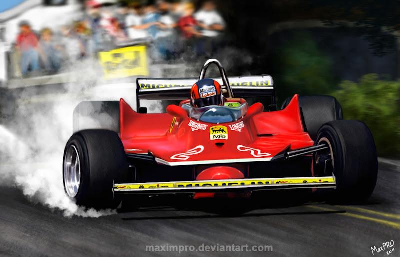 арт Жиль Вильнев в заносе на Ferrari от MaximPRO