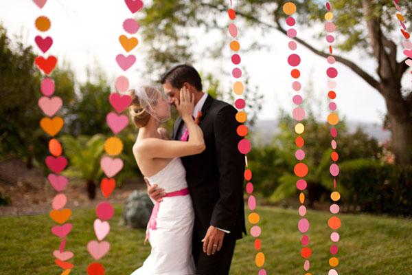 Украшение свадебной фотосессии своими руками