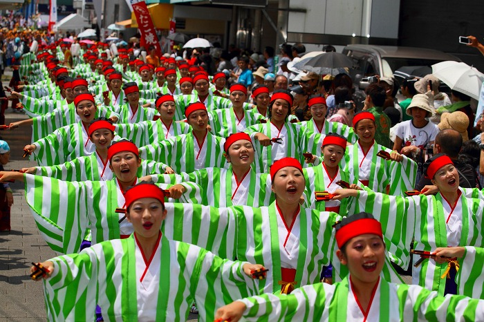 第59回よさこい祭り☆本祭1日目・上町競演場93☆上1目878
