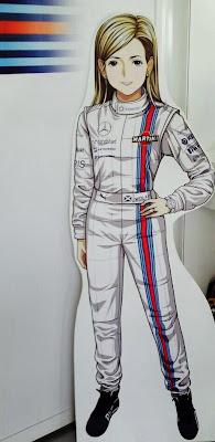 анимешная фигура Сьюзи Вольфф в полный рост на Гран-при Японии 2014