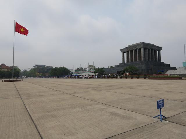 Ho Chi Minh's bizarre mausoleum.